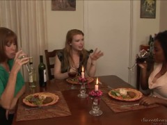 Alia Starr,Darla Crane, and Madison Young in hot lesbian action.