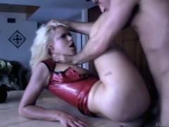 Blonde Anikka Albrite gets dominated by James Deen