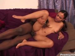Ebony Vanessa Cruz getting interracially hardcored by hard cocked guy