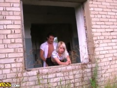Fucking Jewel real hard in an abandoned house