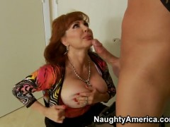 Naughty MILF Sexy Vanessa seduces a young cock for her needs