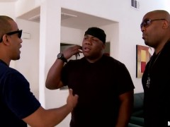 Rio Lee is about to taste the big hard cock of the big black guy