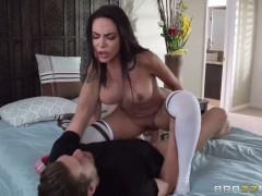 Xander Corvus drills extremely horny Lela Stars beautiful face with his dick
